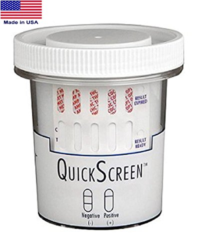 QuickScreen-12-Panel-Urine-Drug-Test-Cup-9308ZN-AMP-MDA-BAR-BZD-COC-MET-500-MDMA-MTD-OPI-300-OXY-PCP-THC-Timer-Made-in-USA