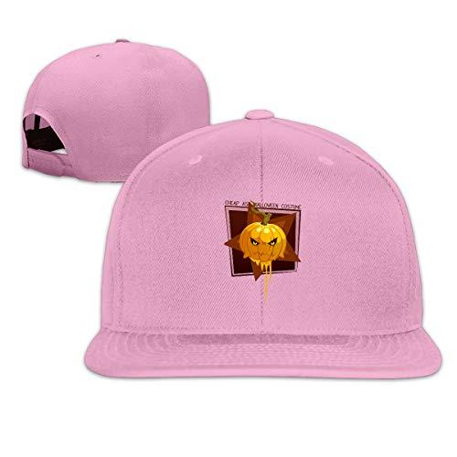 Unisex Fashion Ass Halloween Costume Pumpkin Baseball Caps Buckle Design Adjustable Trucker Hat Pink