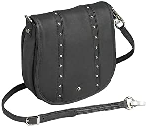 GTM Gun Tote'n Mamas Concealed Carry Simple Bling Hand Bag, Black, Small