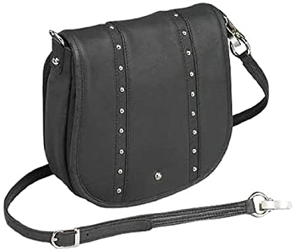78c95c32379a GTM Gun Tote'n Mamas Concealed Carry Simple Bling Hand Bag, Black, Small