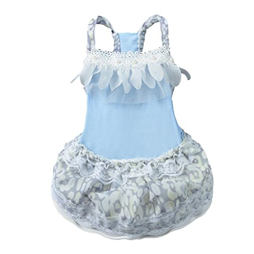 Pet Shirt,Haoricu Hot Sale! Summer Dog Cat Bow Tutu Lace Skirt Pet Princess Dress for Small Dogs Costume (S, (Dresses For Dogs)