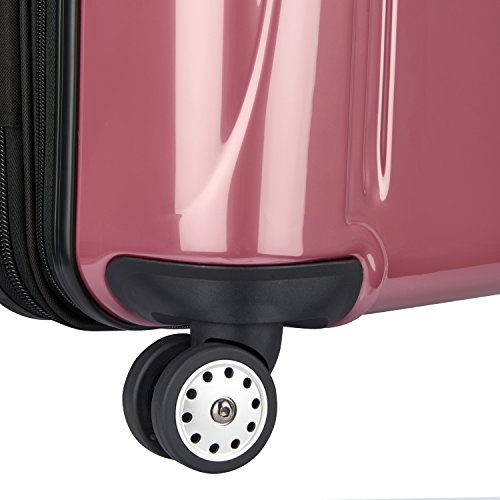 Delsey Luggage Helium Aero, Carry On Luggage, Hard Case Spinner Suitcase, Peony Pink