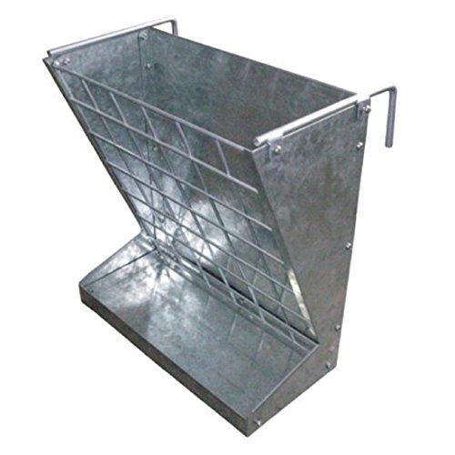 Galvanized Sheet 2-in-1 Goat and Sheep Food Feeder - heavy duty, rust and corrosion free - 21.5 in. L x 13.06 in. W x 23.25 in. H by Little Giant