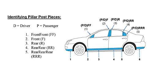 6 Pc: Stainless Steel Pillar Post Trim Kit, 4-door QAA FITS MURANO 2009-2014 NISSAN PP29591
