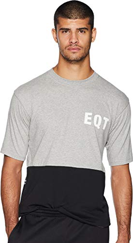 adidas Originals Mens EQT Panel Graphic Tee, Medium Grey Heather, L