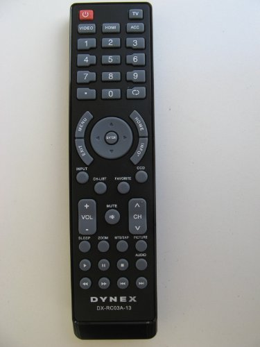 New Dynex DX-RC03A-13 remote control for most of Dynex LCD L