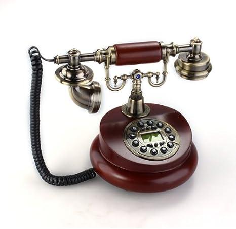 Teléfono Fijo Antiguo Vintage Retro Resina Casa Mesa Oficina ...
