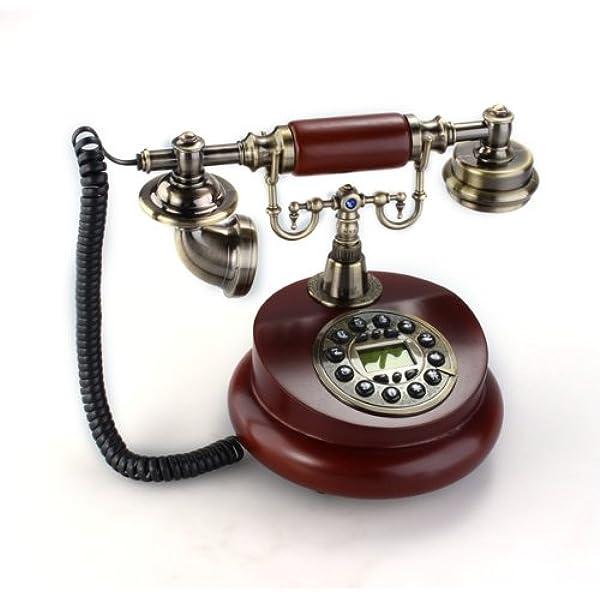 Teléfono Fijo Antiguo Vintage Retro Resina Casa Mesa Oficina: Amazon.es: Electrónica