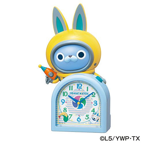 [SEIKO CLOCK Yokai watch quartz alarm clock (white pearl paint) USA Byun JF380A] (Magnificent Movie Costume)