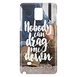 Loud Universe Galaxy Note 4 Nobody Can Drag Me Down Print 3D Wrap Around Case - Multi Color