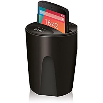 """Wireless Car Charger by ZENS - Enables Qi Wireless Charging   Fits Most Cup Holders   Works with Qi Enabled Smartphones such as the new iPhone 8, Samsung Galaxy S6, S7 and more (5"""" max screen size)"""
