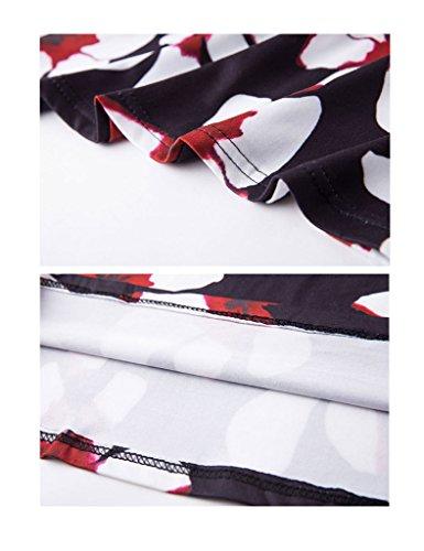 Waist High Shoulder Black Spot Dress white Strap Bestgift Women's Low Bust Pencil Off Base SHqYwITnFx