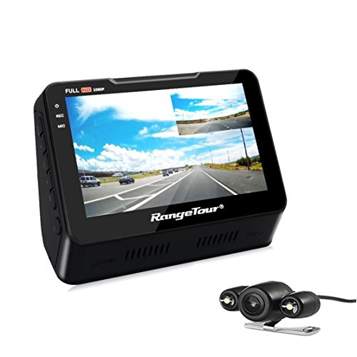 Dash Cam, Dual Lens Car Dash Camera Recorder 1080P FHD 170 Degree Wide Angle 4.3 Inch Front and Rear with Night vision, G-SENSOR, Loop Recording,Parking Monitor and LCD Screen (Kit Degree Mounting 140)