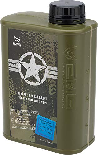 Evike EMG International Match Grade 6mm Airsoft BBS - Biodegradable 5000 Rounds (Weight: .28g) (Best Airsoft Bbs To Use)