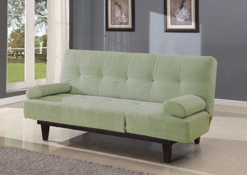 Acme 05855W-SA Cybil Adjustable Sofa Set with Two Pillows, Sage by ACME