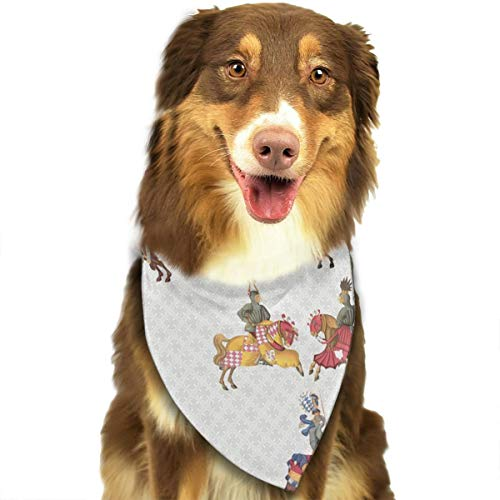 OURFASHION Medieval Knight Cruising Bandana Triangle Bibs Scarfs Accessories for Pet Cats and Puppies.Size is About 27.6x11.8 Inches (70x30cm).