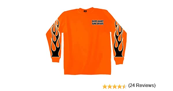 Hot Leathers Bikers Against Dumb Drivers Long Sleeve T-Shirt GMD2090 SAFETY ORANGE 2XL Safety Orange, XX-Large