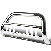 "Dodge Durango/Jeep Grand Cherokee WK2 3"" Bumper Push Bull Bar+Removable Skid Plate (Chrome)"