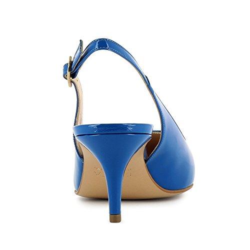 Shoes Giulia azul Piel real de Zapatos para de Evita mujer vestir dSfqdx