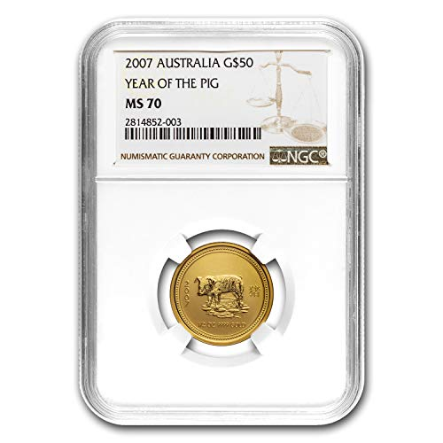 2007 AU 1/2 oz Gold Lunar Year of the Pig MS-70 NGC (Series I) 1/2 OZ MS-70 NGC