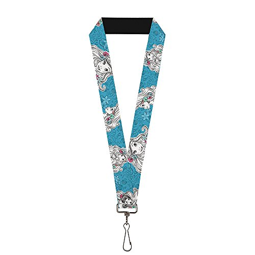 Buckle Down Lanyard - 1.0 - Ariel Poses/Shells Sketch Blue/White Accessory, -Multi-Colored, (Ariel Lanyard)