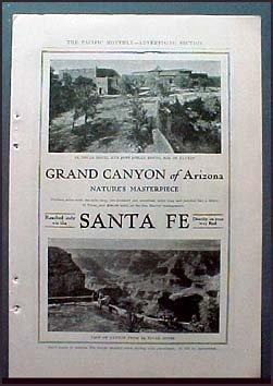 1905 El Tovar Hotel and Hopi Indian House Vintage Ad Grand Canyon, ()