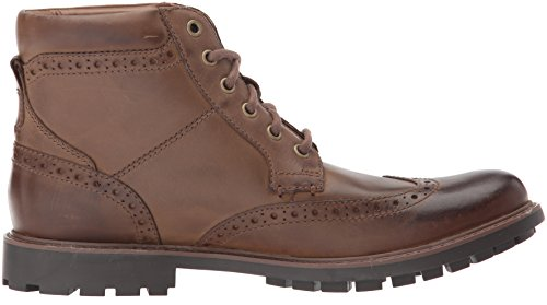 Clarks Men's Currington Rise Chukka Boot, Brown Leather, 9.5 M US