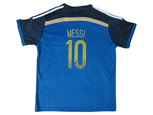 6a6098285 2017 Argentina LIONEL MESSI  10 Away Soccer Kids Jersey   Short Set Youth  Sizes (Away