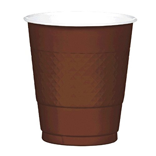 Chocolate Brown Plastic Cups | 12 oz. | Pack of 20 | Party -