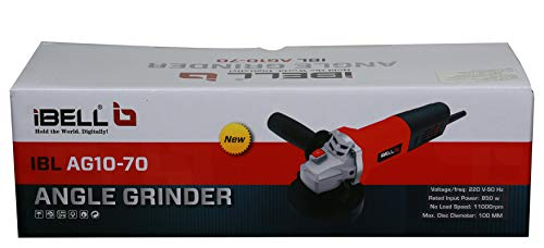 iBELL AG10-70, 850W,4-INCH, 11000RPM Angle Grinder W/Back Switch, 1 Grinding Wheel,1 Wheel Guard, 6 Months Warranty 6