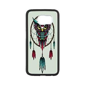 Samsung Galaxy S6 Cases Owl Dream Catcher, Owl [White]
