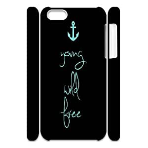 Custom Young wild & free Phone Case, DIY Young wild & free 3D Case for iPhone 5C