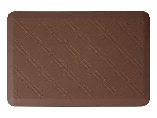 WellnessMats Moire Brown Motif Mat, 36 x 24 Inch by WellnessMats