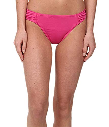 Tommy Bahama Women's Pearl Solids Side Shirred Hipster Bottoms, Razzberry, XL (US - Pearl Hipster Solids