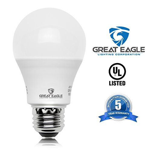 Great Eagle 100W Equivalent LED Light Bulb 1500 Lumens A19 Warm White 2700K Dimmable 14-Watt UL Listed (6-Pack) by Great Eagle Lighting Corporation (Image #3)