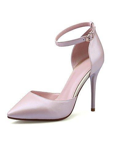 GGX/ Zapatos de mujer-Tacón Stiletto-Tacones / Puntiagudos-Tacones-Oficina y Trabajo / Casual-Cuero-Rosa / Blanco , pink-us8 / eu39 / uk6 / cn39 , pink-us8 / eu39 / uk6 / cn39 white-us7.5 / eu38 / uk5.5 / cn38