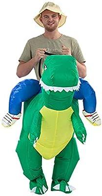 Bestbuy_2018 Disfraz Inflable de Dinosaurio para Adultos, Disfraz ...