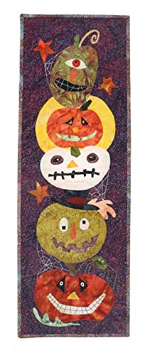 Gourdy's Gang 183 Halloween Pumpkin Jack O Lantern Threads that Bind Wool Applique Pattern -