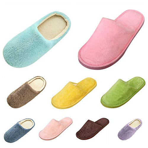 Clacce Comfy House Slippers Memory Foam Fuzzy Bedroom Scuffs Slippers Indoor Outdoor Anti Skid Home Slippers Shoes with Warm Plush Lining