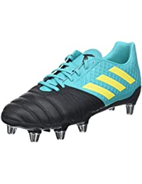 Kakari Elite SG Soft Ground Mens Rugby Union Boot Black/Aqua · adidas