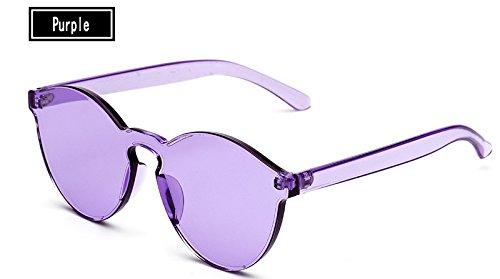 de del Gafas Hombre purple TL Vintage Sol Caramelos Sol Gafas Gafas de de Sunglasses Amarillo Mujer Mujer Color qx8ExRB