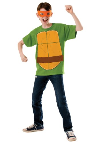 Teenage Mutant Ninja Turtle Child's Michelangelo Costume Top and Eye mask
