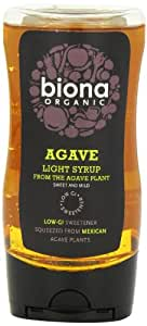 Biona Organic Squeezy Agave Syrup Light 250 ml (Pack of 3)
