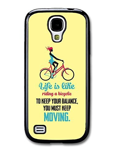 a Bicycle Albert Einstein Life & Love Inspirational Quote case for Samsung Galaxy S4 mini ()
