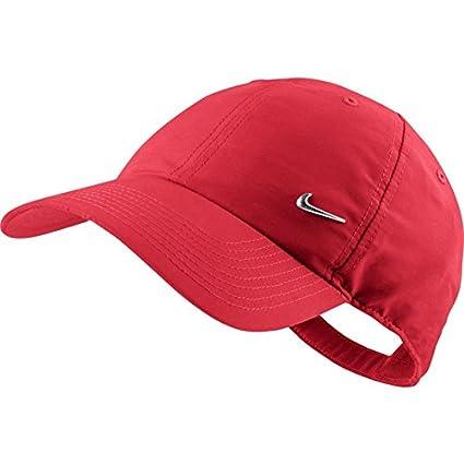 Amazon.com  Nike Metal Swoosh Black Unisex Adult Baseball Cap   Hat One Size   Sports   Outdoors a0bc7b86c04f