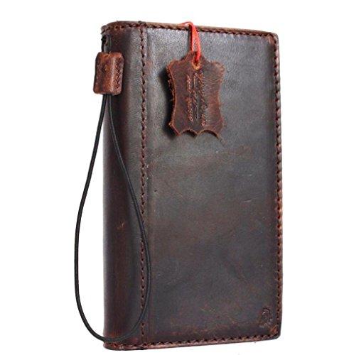 Genuine Vintage Real Leather Case for LG V20 Book Wallet Cover Handcraft Id Cards Slots Luxury Brown Slim DavisCase