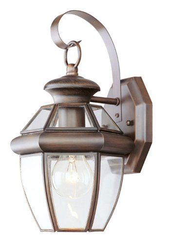 Cheap Livex Lighting 2051-58 Monterey 1 Light Outdoor Imperial Bronze Finish Solid Brass Wall Lantern  with Clear Beveled Glass
