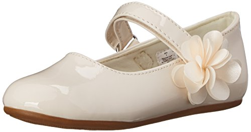 Baby Deer Girls' Patent Skimmer Mary Jane-K, Ivory, 8 M US Toddler -