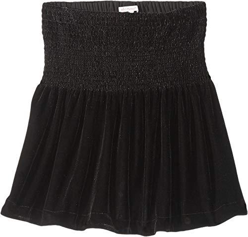 Ella Moss Girls' Big Skirt Velvet, Black 10