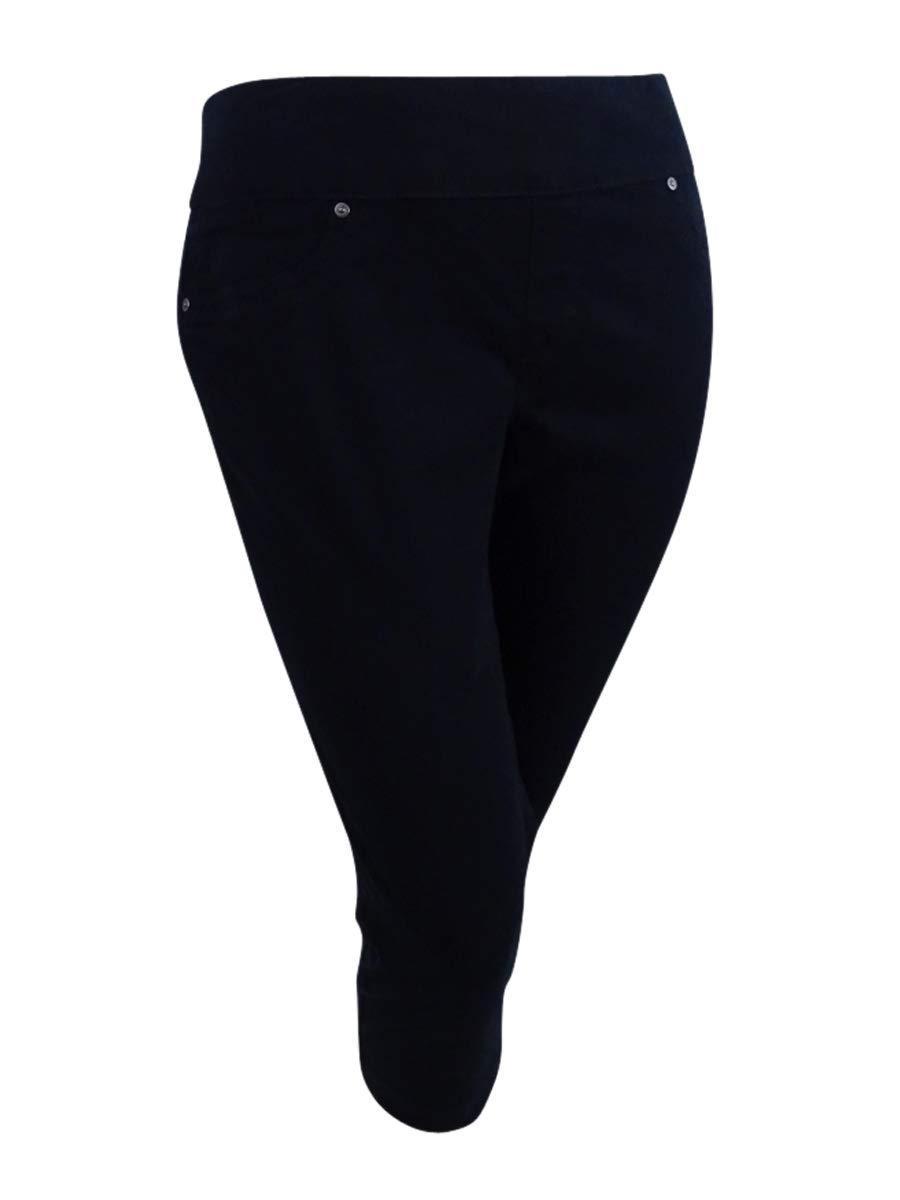 Style & Co. Pull-on Capri Jeans (Deep Black, XL)